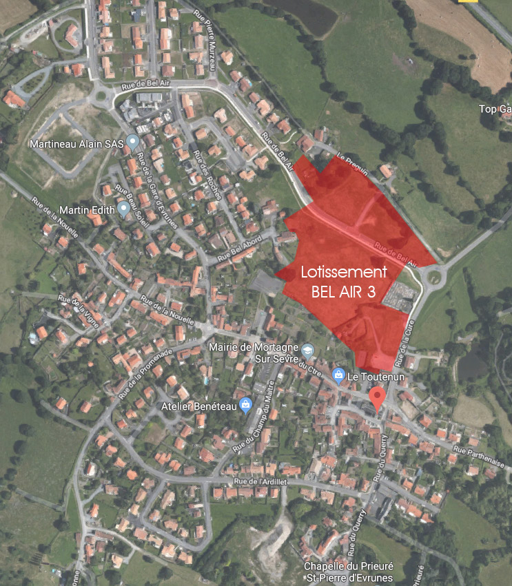 Etude d'urbanisme pour un lotissement, Mortagne-sur-Sèvre